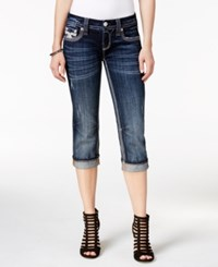 Rock Revival Cropped Dark Blue Wash Jeans Only At Macy's