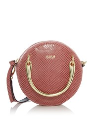Biba Spencer Mini Circle Leather Bag Pink