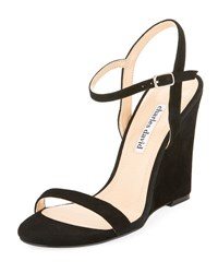 Charles David Queen Ankle Wrap Wedge Sandal Black