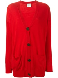 Forte Forte Buttoned Long Cardigan Red