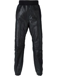 Haider Ackermann Velvet Stripe Applique Track Pants Black