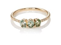 Jennie Kwon Women's Green Sapphire Fan Ring Gold