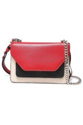 Elena Ghisellini Woman Color Block Leather Shoulder Bag Crimson