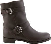 Gianvito Rossi Double Buckle Moto Boots Brown