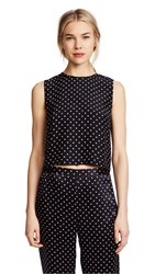 Jenni Kayne Dot Charmeuse Shell Black Nude