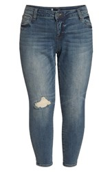 Kut From The Kloth Plus Size Women's Catherine Ankle Straight Leg Jeans Increase