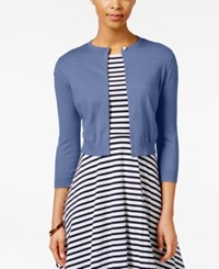 American Living Open Front Cardigan Only At Macy's Desert Blue