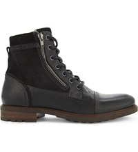 Aldo Freowine Leather Ankle Boots Black