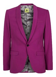 Topman Noose And Monkey Pink Skinny Fit Suit Jacket