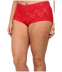 Hanky Panky Plus Size Signature Lace Solid New Boyshort Red Women's Underwear