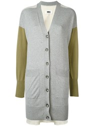 Maison Martin Margiela Mm6 Colour Block Cardigan Grey
