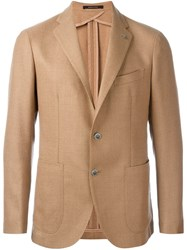 Tagliatore Two Button Blazer Nude And Neutrals