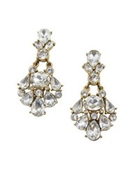 Belle By Badgley Mischka Occasion Crystal Statement Earrings Gold