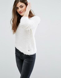 Only Soft Perfect Textured Knit Jumper Cloud Dancer White