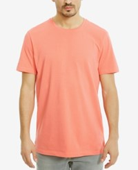 Kenneth Cole Reaction Men's Solid Cotton T Shirt Sunkissed