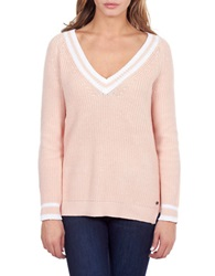 William Rast Striped Tennis Sweater Pink