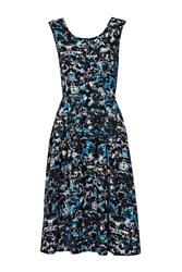 Great Plains Marble Pop Pleated Dress Pacific
