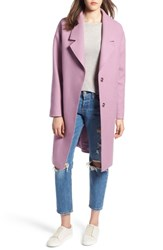 Kendall Kylie Drop Shoulder Midi Coat Lilac