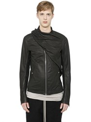 Rick Owens Wrap Scarf Leather Jacket