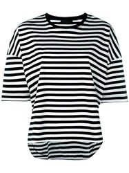 Diesel Black Gold Horizontal Stripe T Shirt Women Cotton Xs Black