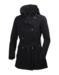 Helly Hansen Welsey Hellytech Weather Proof Trenchcoat Black