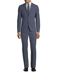 Dkny Slim Fit Wool Two Piece Suit Blue