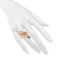 Roberto Cavalli Set Of 3 Snake Rings