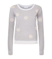 Escada Sport Polka Dot Knit Jumper Female Grey