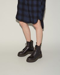 R 13 Lace Up Boot Black