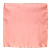 Forzieri Solid Silk Pocket Square Antique Pink