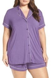 Nordstrom Plus Size Women's Lingerie 'Moonlight' Short Pajamas Purple Psychic
