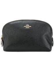 Coach Grained Makeup Bag Women Leather One Size Black
