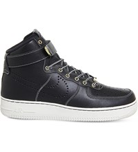 Nike Air Force 1 Lv8 Leather High Top Trainers Black Sail Lv8 Wb