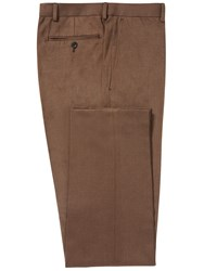 Chester Barrie Men's Brushed Cotton Trousers Tobacco