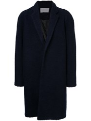 Strateas Carlucci Single Breasted Coat Wool S Blue