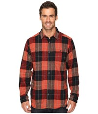 Mountain Hardwear Walcott Long Sleeve Shirt Dark Fire Men's Long Sleeve Button Up Orange