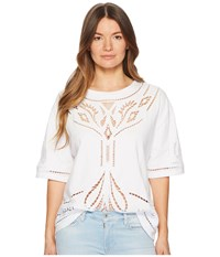 Levi's Premium R Made Crafted Voodoo Lace Top Bright White Clothing