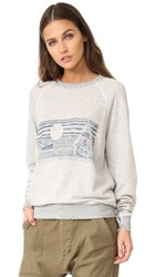 The Great Great. College Sweatshirt Heather Grey With Navy Whale