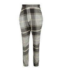 Vivienne Westwood Tartan Alcoholic Tailored Trousers Male Grey