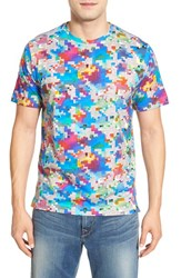 Robert Graham Men's 'Pixels' Print Pima Cotton T Shirt