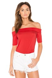 Feel The Piece Linzee Off Shoulder Top Red