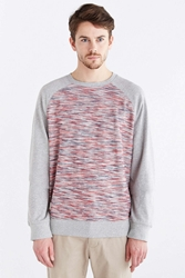 Native Youth Reverse Space Dye Crew Neck Sweatshirt Charcoal