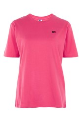 Topshop Signature Logo T Shirt By Russell Athletic Pink