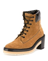 Pierre Hardy Working Girl Suede Lace Up Boot Camel