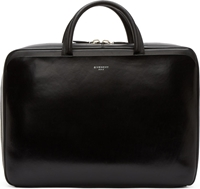 Givenchy Black Buffed Leather Briefcase