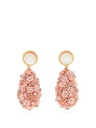 Lizzie Fortunato Roman Party Beaded Earrings Pink