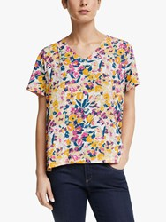 John Lewis Collection Weekend By Albi V Neck Floral Top Multi