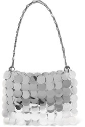 Paco Rabanne Sparkle 1969 Sequined Faux Leather Shoulder Bag Silver