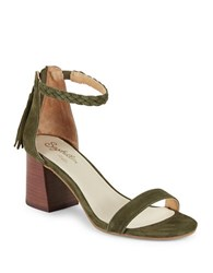 Seychelles Fury Suede Braided Strap Sandals Olive