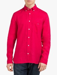 Eden Park Linen Shirt Red